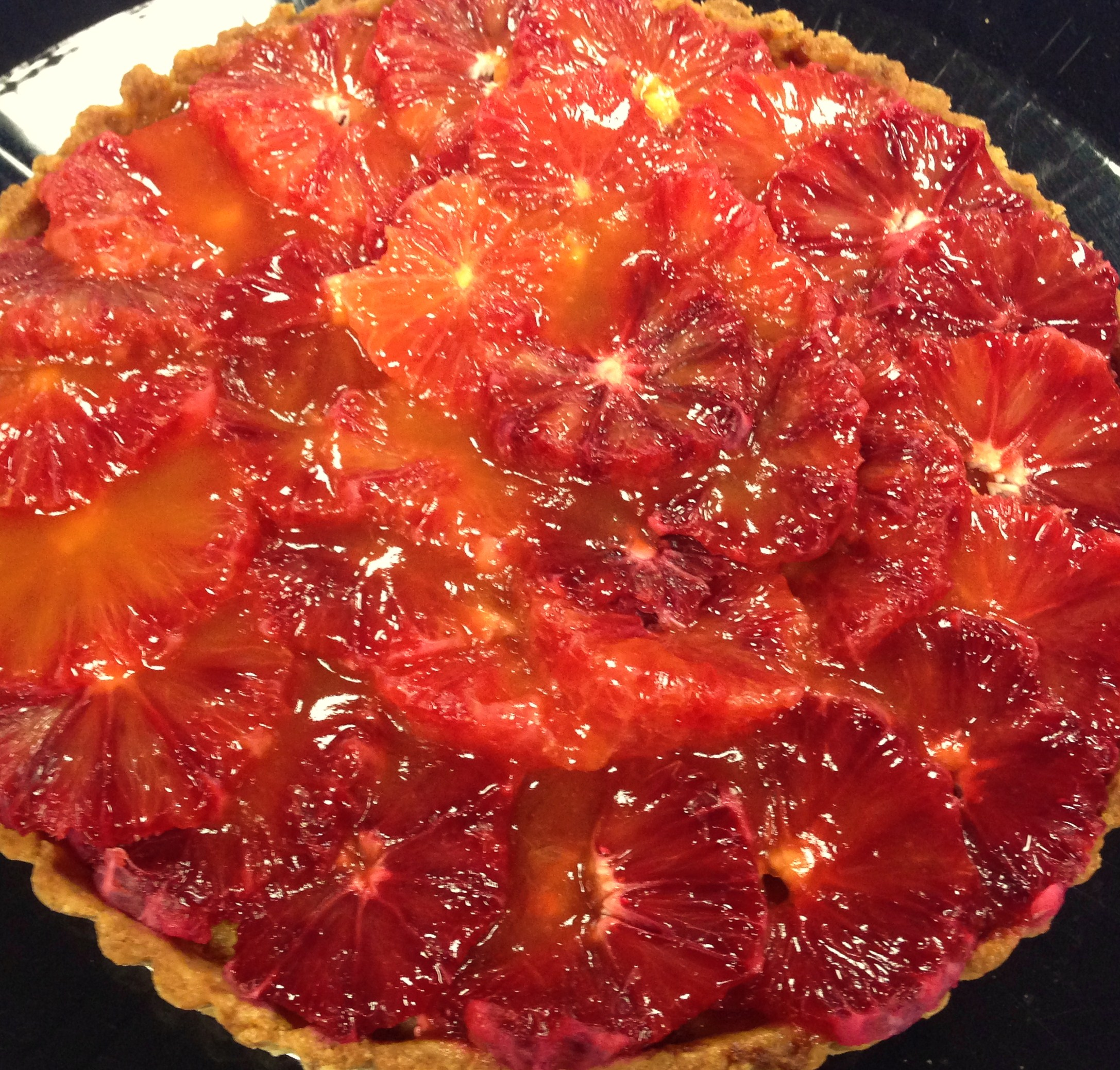 Blood Orange and Almond Tart