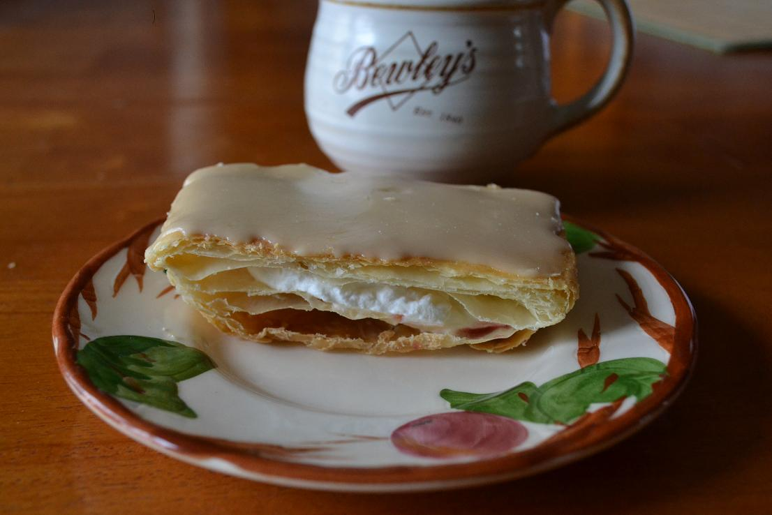 Coffee-glazed Pastries with Whipped Cream