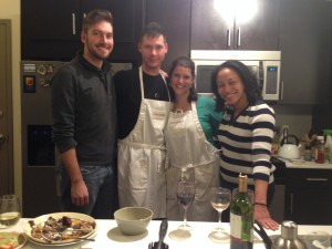 Top Chef Halsted Flats finalists, David, Pete, Julia and Jojo.