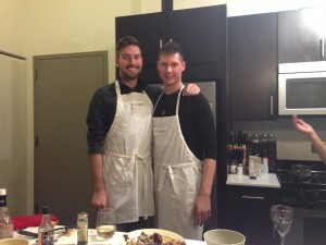 Top Chef Halsted Flats winning team David and Peter in Peter's kitchen.