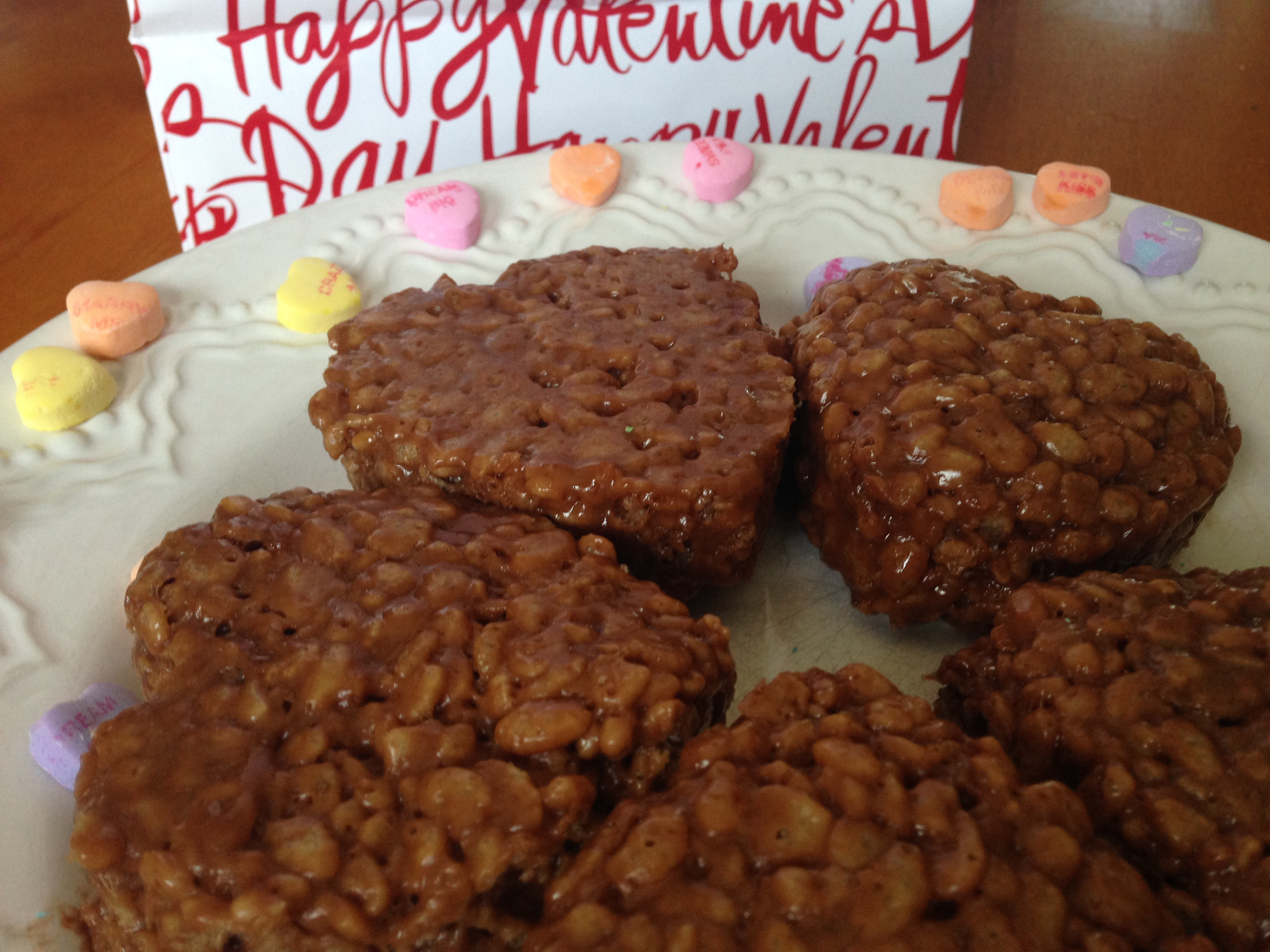 Love at first bite — chocolate krispie hearts