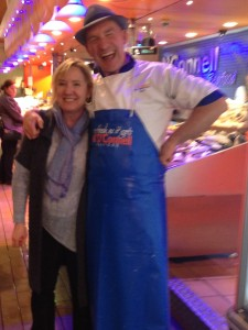 Me with Cork's most famous fish monger Pat O'Connell of K. O'Connell's in the city's English Market.