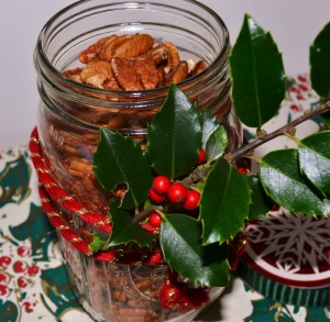 Spiced pecans are my signature holiday food gift.