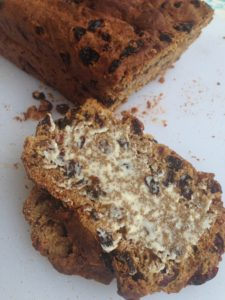 Barm Brack is an Irish Halloween bread containing fruit and spices.